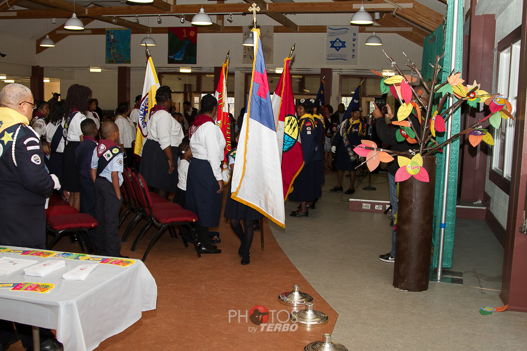 Color Guards March in