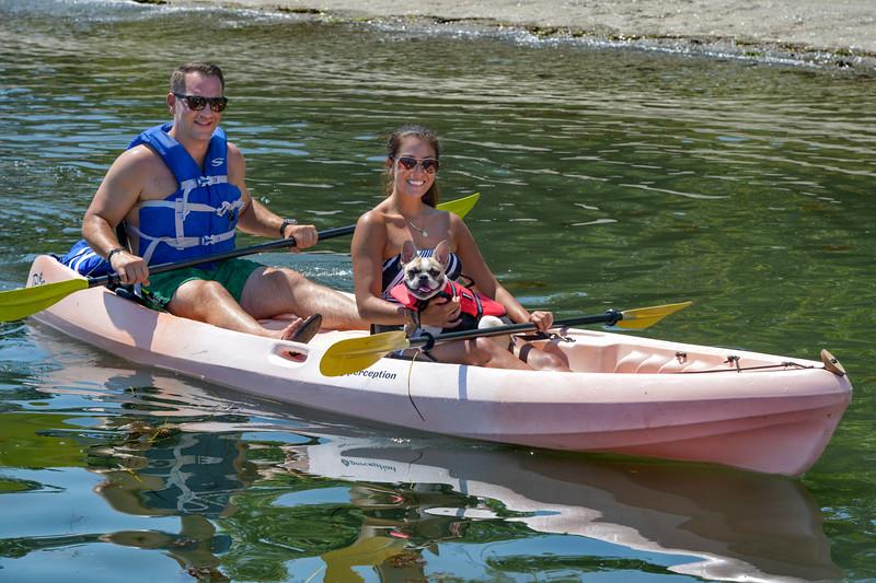 Mila's First Kayak Trip.