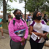 African Cultural Association sponsors a Convoy Against Racial Injustice, in support of Black Lives Matter, on the Saturday that would have been the African Festival, had it not been cancelled due to COVID-19. Davina Mwangi, left, and her aunt Eunice Muiruri, both of Lowell. (SUN/Julia Malakie)