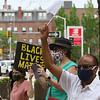 African Cultural Association sponsors a Convoy Against Racial Injustice, in support of Black Lives Matter, on the Saturday that would have been the African Festival, had it not been cancelled due to COVID-19. John Cheboryot of Lowell, front. (SUN/Julia Malakie)