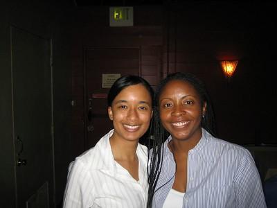 Randi and Cherice at BlackNLA Mixer at Shane's in Santa Monica