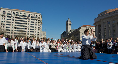 Aikido of Arlington bowing in at the National Cherry Blossom Festival
