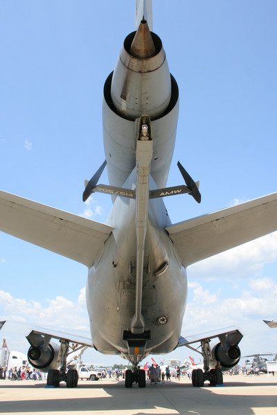 View of the tail and refueling boom of a KC-135 Stratotanker, #33