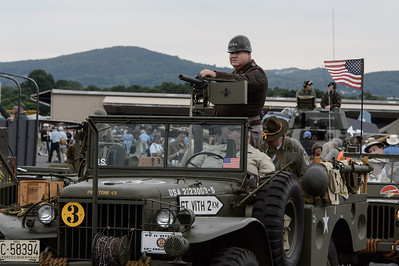 Gib Buckbee plays General Patton at the WWII Weekend