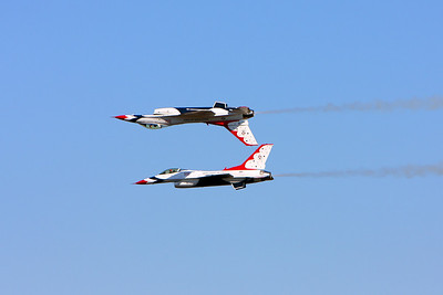No photoshop here! Really that close together.......The Thunderbirds Houston air show October 2008