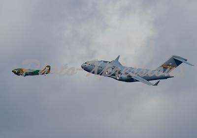 C-47 and C-17 Transport Heritage Flight