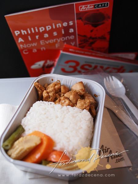 The Chicken Adobo Meal on board