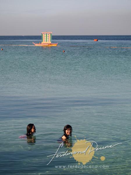 Enjoying the waters of Samal Island