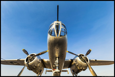 The underbelly of the B-25 'Photo Fanny'.