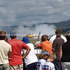"Tauranga Airshow, 2008. New Zealand. Crowd watches a burnout. Tauranga is New Zealands 5th largest city and offers a wonderfull variety of scenic and cultural experiences. ALSO SEE; <a href=""http://www.blurb.com/b/3811392-tauranga"">http://www.blurb.com/b/3811392-tauranga</a>"