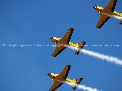 """Tauranga Airshow, 2008. New Zealand. Three """" PAC CT4/E"""" flyby. Tauranga is New Zealands 5th largest city and offers a wonderfull variety of scenic and cultural experiences. ALSO SEE; http://www.blurb.com/b/3811392-tauranga"""