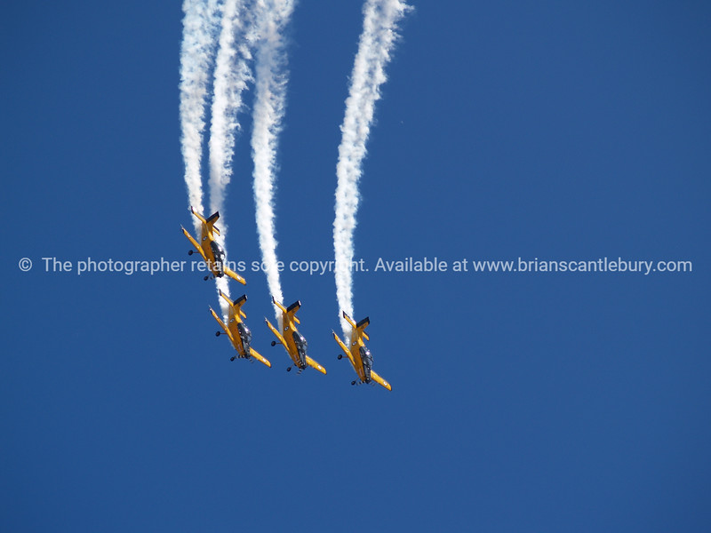 """Tauranga Airshow, 2008. New Zealand. """" PAC CT4/E"""" military pilot trainer in formation. Tauranga is New Zealands 5th largest city and offers a wonderfull variety of scenic and cultural experiences. ALSO SEE; <a href=""""http://www.blurb.com/b/3811392-tauranga"""">http://www.blurb.com/b/3811392-tauranga</a>"""