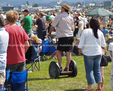 Tauranga Airshow, 2008. New Zealand. The crowd and a Segway. Tauranga is New Zealands 5th largest city and offers a wonderfull variety of scenic and cultural experiences. ALSO SEE; http://www.blurb.com/b/3811392-tauranga