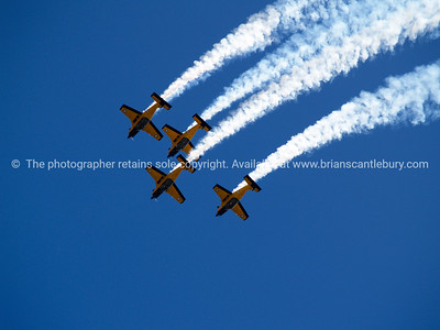 Tauranga Airshow, 2008. New Zealand. PAC CT4/E in formation. Tauranga is New Zealands 5th largest city and offers a wonderfull variety of scenic and cultural experiences. ALSO SEE; http://www.blurb.com/b/3811392-tauranga
