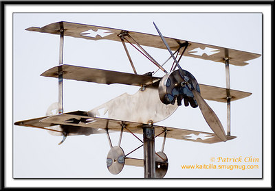 Hand crafted metal plane.