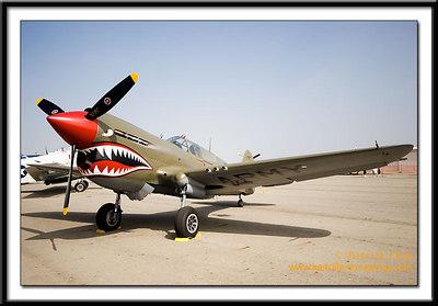 P-40N Warhawk at the pre-show.