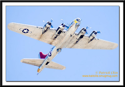 B17-G Bomber takes to the sky.