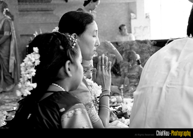 Mom praying.