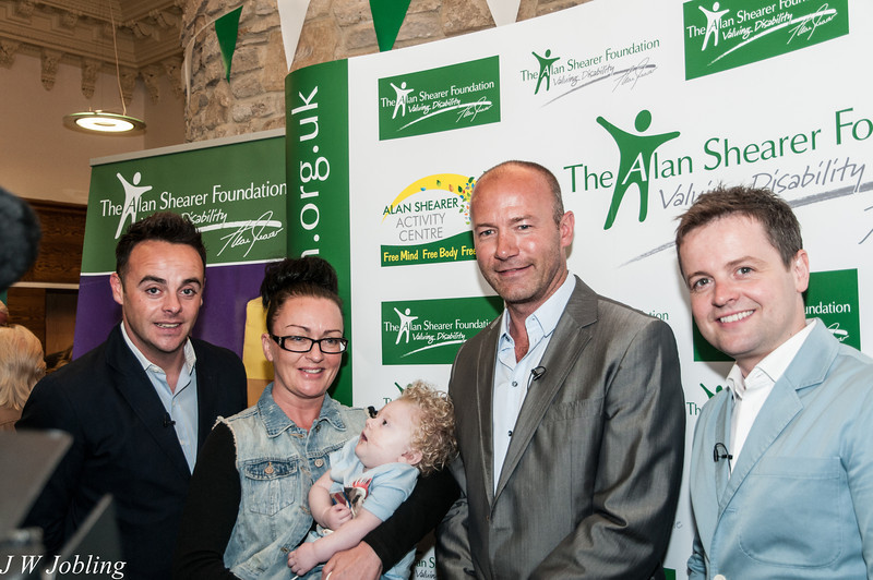 Ant, Dec & Alan Shearer with Charlie Cookson and his Mum