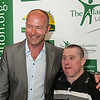 Alan Shearer with massive Newcastle fan John Robson