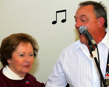 Paul Fuhs sings to Brenda Wuerch