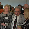 Under the tent reception: Theresa Symansky, Doug North [background] Charles Assini and spouse (05/17/13)