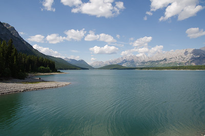 Lower Kananaskis Lake - high water
