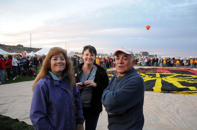 Liz (left), Wendy and Frank (dad).