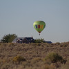 "Looking for a landing place.  Balloon is ""Sierra Sunrise."""