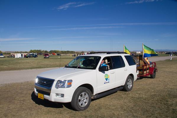 Sundagger vehicle and balloon.