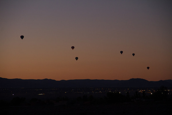 Dawn Patrol as viewed from our house in Corrales.