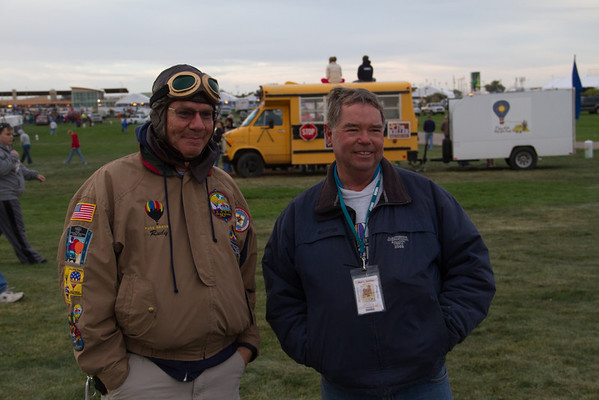 Our pilot, Blair Kaufman . . . the one on the right! . . . and trusty sidekick, Rudy Garcia!