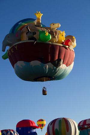 "A very cute ""Noah's Ark"" balloon."