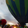 """Sunset, and the start of """"Balloon Glow."""""""