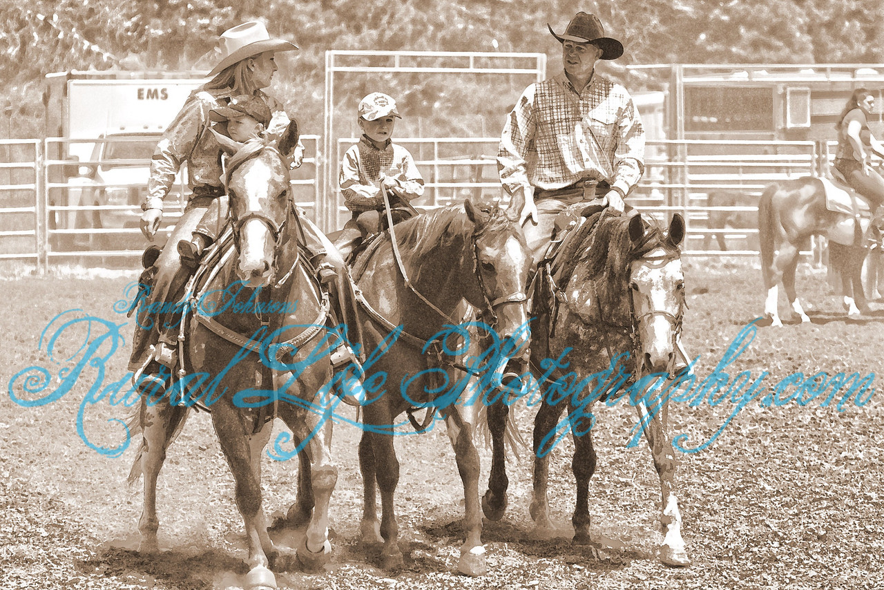 The Endicott family at the 2011 Alder Creek Rodeo this is Rural life at its Best, all about family not just about the Event it self.