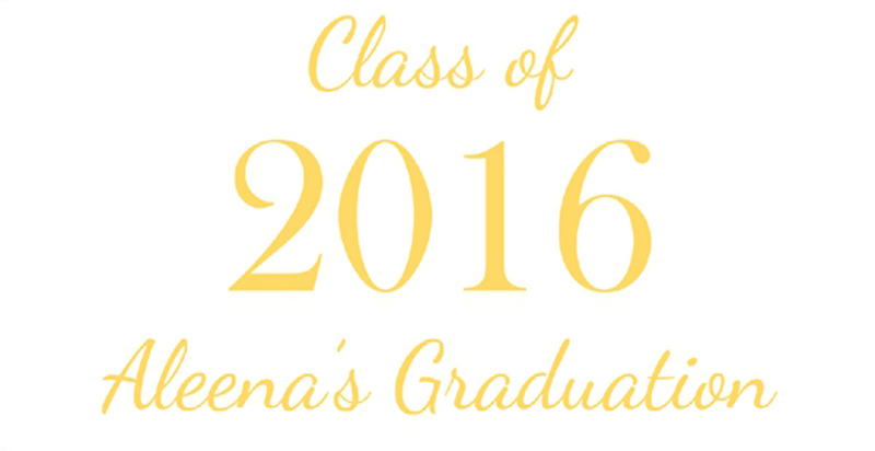 Aleena's Graduation