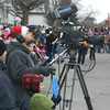 Alex filming the Santa Claus parade in North Bay - 2010