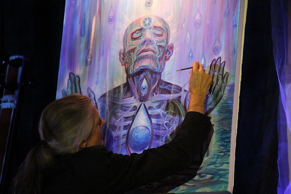 Artist Alex Grey Sound & Light Event 2, Wings Unity St Pete FL, by Jan 11 12 09