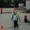 Connor hamming it up! Chandler sitting on the fire hose!