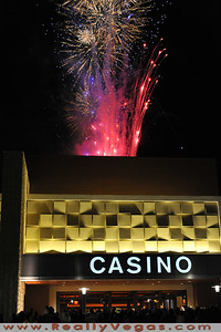 Buy print or download of Aliante Casino Opening  in Las Vegas by Las Vegas photographer Mark Bowers Copyright All Rights Reserved.  Fireworks and thousands of people participated in the opening of Aliante Casino.