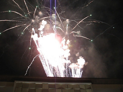 Clear video of fireworks at the Aliante Casino opening in Las Vegas.