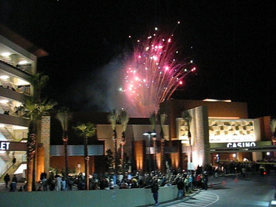Video of fireworks at the Aliante Casino opening in Las Vegas.