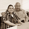 Alice and Ignace Sutherland celebrate their 50th Wedding Anniversary at the Moosonee Community Centre.