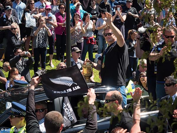 All Blacks RWC Parade 2015