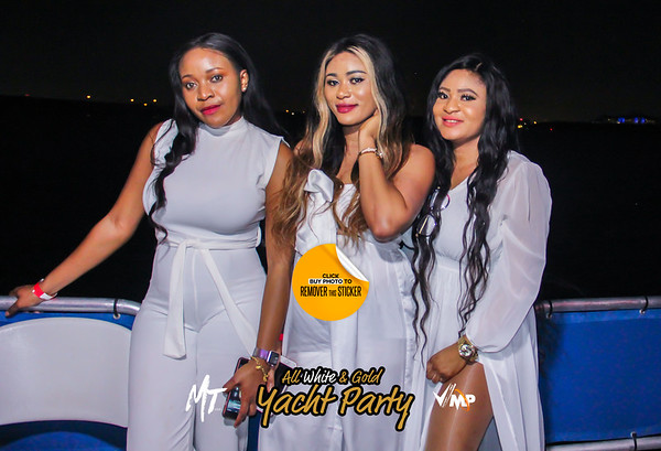 All White and Gold Yacht Party 19