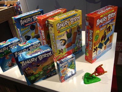 Angry Birds have moved from the screen to the living room in various real-world games.