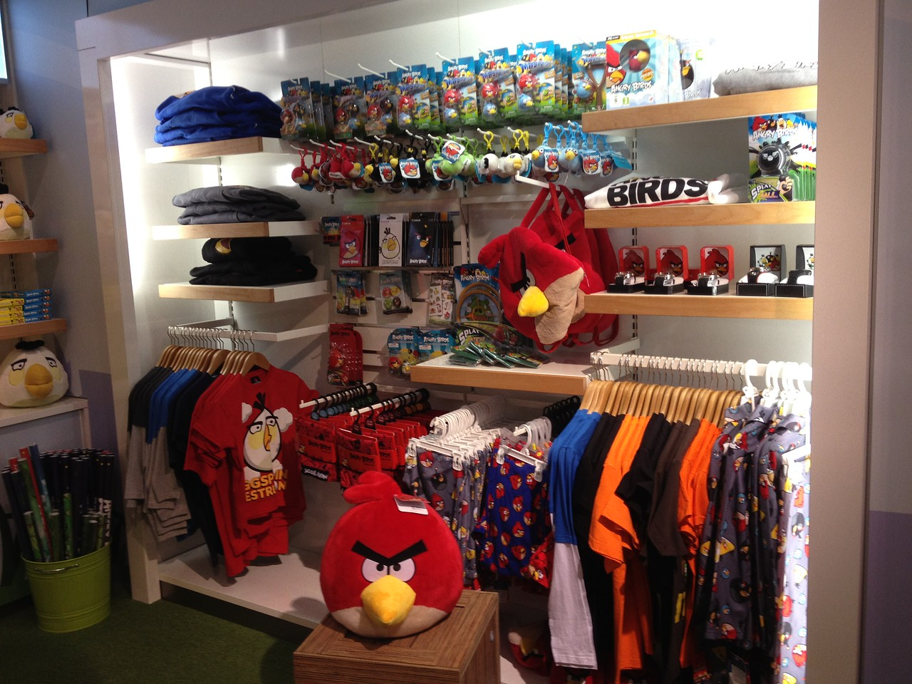 Another shot of the concept store within Rovio's headquarters where the company tests out new retail products.