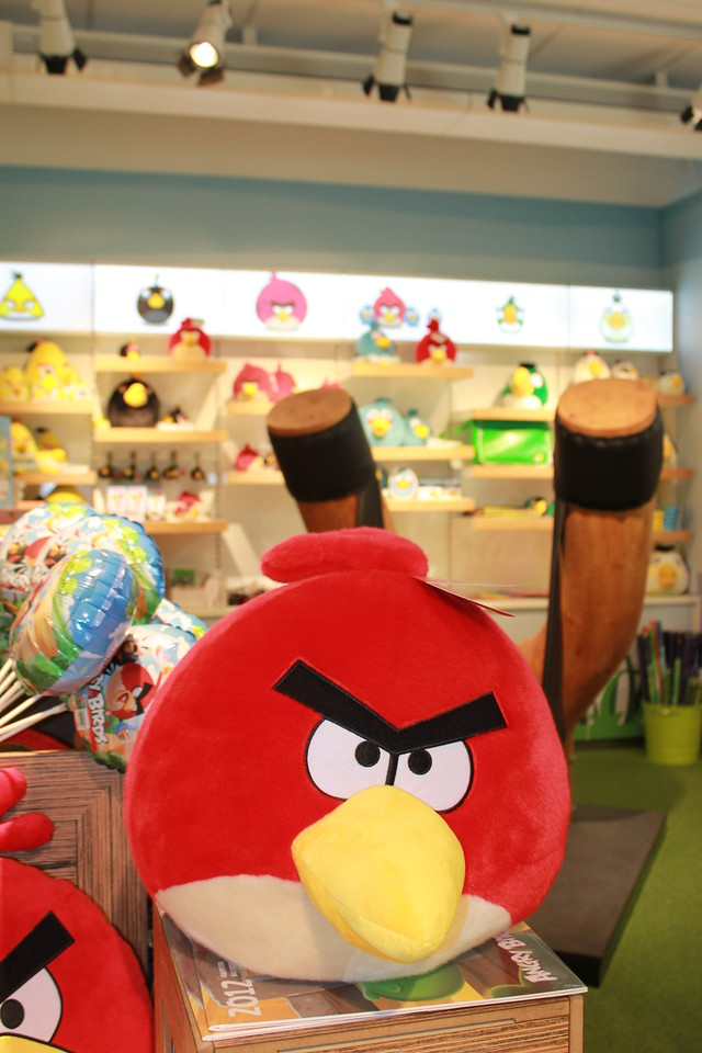 An Angry Bird looking, well, angry.