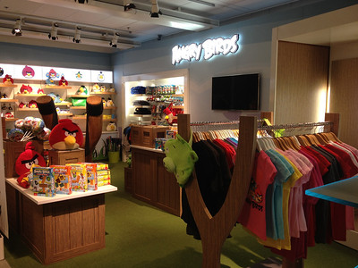 A concept store within Rovio's headquarters where the company tests out new retail products.
