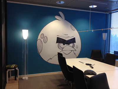 One of Rovio's many Angry Birds-themed conference rooms.